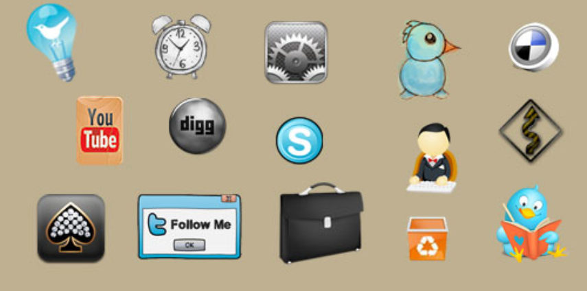 Collections of icon sets for social media, web functions and applications.