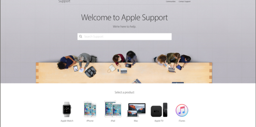 Apple redesigned the support area on their website, and it is typical Apple design and makes you want to redesign your own website.